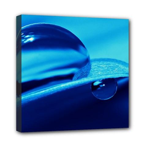 Waterdrops Mini Canvas 8  X 8  (framed) by Siebenhuehner