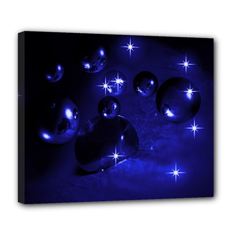 Blue Dreams Deluxe Canvas 24  X 20  (framed) by Siebenhuehner