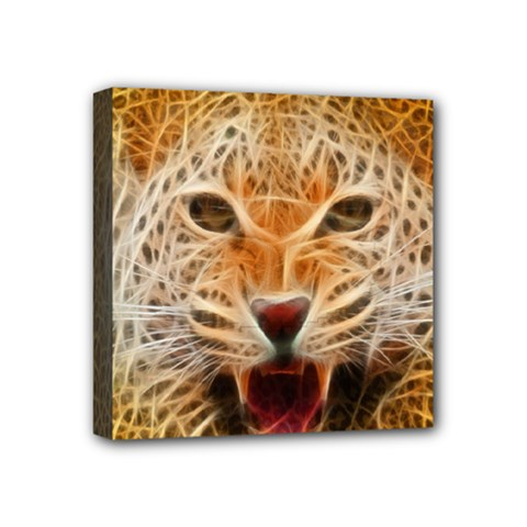 Electrified Fractal Jaguar Mini Canvas 4  X 4  (stretched) by TheWowFactor