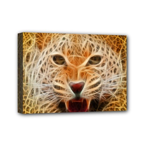 Electrified Fractal Jaguar Mini Canvas 7  X 5  (stretched) by TheWowFactor