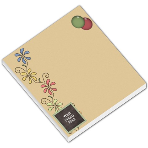 Flower Memo Pad By Lisa Minor   Small Memo Pads   Gj9f5p8ib6l0   Www Artscow Com
