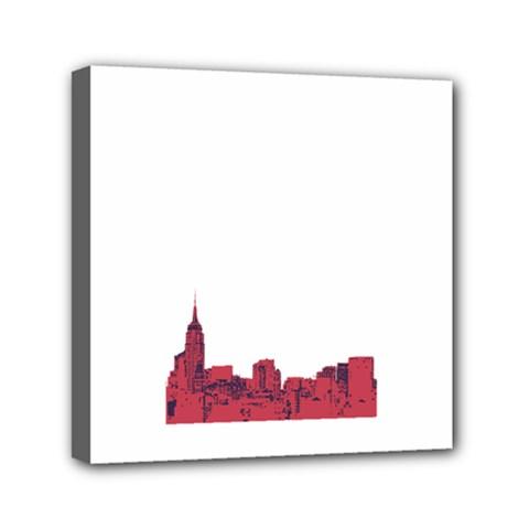 Skyline Mini Canvas 6  X 6  (framed) by PaolAllen