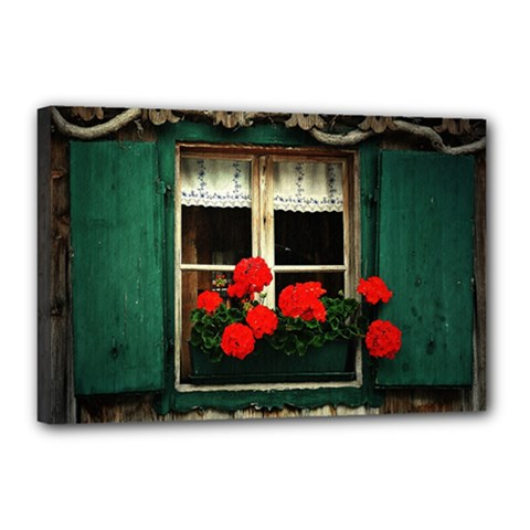 Window Canvas 18  X 12  (framed) by Siebenhuehner