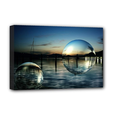 Magic Balls Deluxe Canvas 18  X 12  (framed)