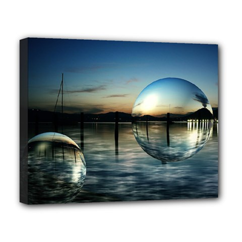 Magic Balls Deluxe Canvas 20  X 16  (framed) by Siebenhuehner