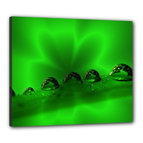 Drops Canvas 24  X 20  (framed) by Siebenhuehner