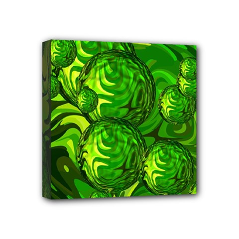 Green Balls  Mini Canvas 4  X 4  (framed) by Siebenhuehner