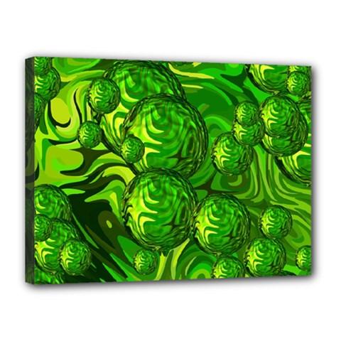 Green Balls  Canvas 16  X 12  (framed) by Siebenhuehner