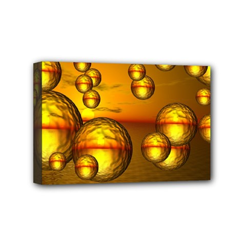 Sunset Bubbles Mini Canvas 6  X 4  (framed) by Siebenhuehner