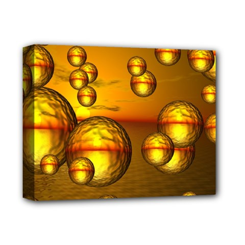 Sunset Bubbles Deluxe Canvas 14  X 11  (framed) by Siebenhuehner