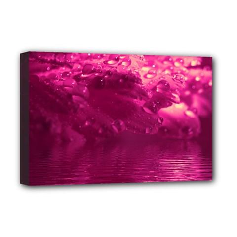 Waterdrops Deluxe Canvas 18  X 12  (framed) by Siebenhuehner