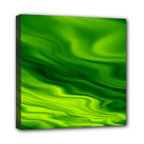 Green Mini Canvas 8  X 8  (framed) by Siebenhuehner