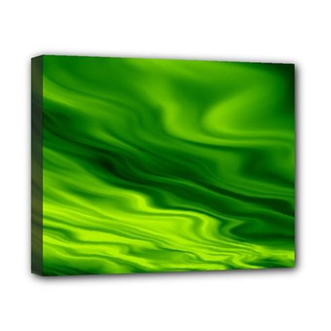Green Canvas 10  X 8  (framed) by Siebenhuehner