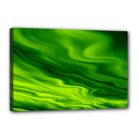 Green Canvas 18  X 12  (framed) by Siebenhuehner