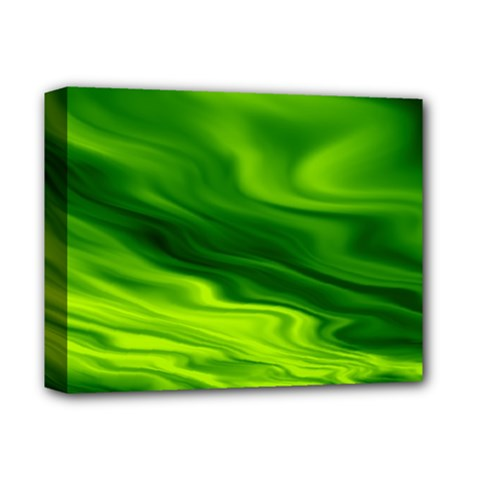 Green Deluxe Canvas 14  X 11  (framed) by Siebenhuehner