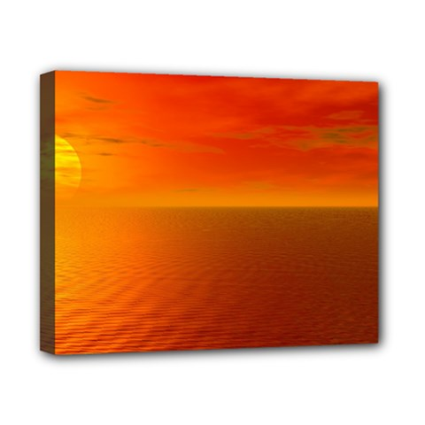 Sunset Canvas 10  X 8  (framed) by Siebenhuehner