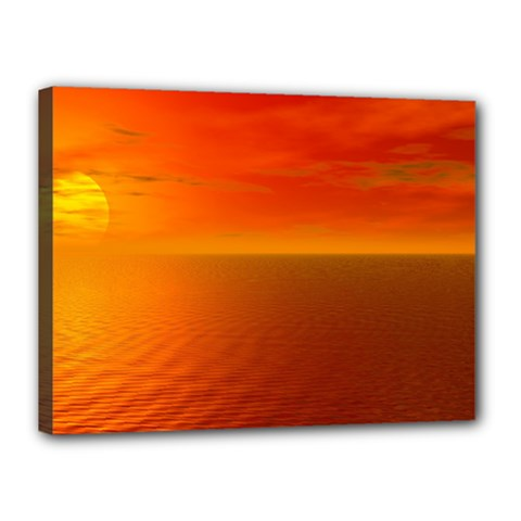 Sunset Canvas 16  X 12  (framed) by Siebenhuehner