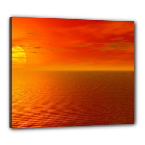 Sunset Canvas 24  X 20  (framed) by Siebenhuehner
