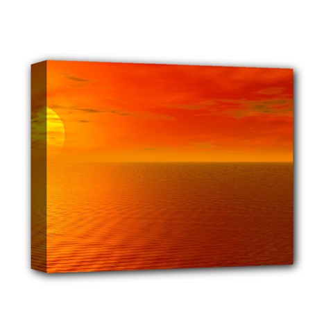 Sunset Deluxe Canvas 14  X 11  (framed) by Siebenhuehner