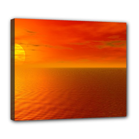 Sunset Deluxe Canvas 24  X 20  (framed) by Siebenhuehner