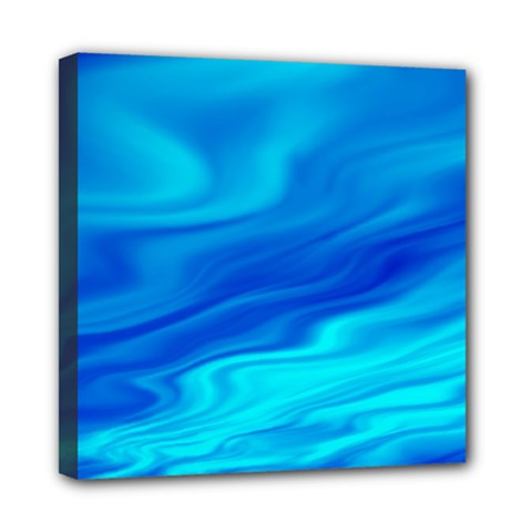 Blue Mini Canvas 8  X 8  (framed) by Siebenhuehner