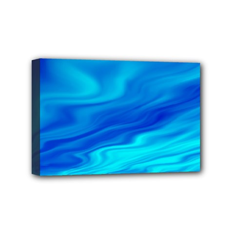 Blue Mini Canvas 6  X 4  (framed) by Siebenhuehner