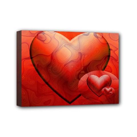 Love Mini Canvas 7  X 5  (framed) by Siebenhuehner