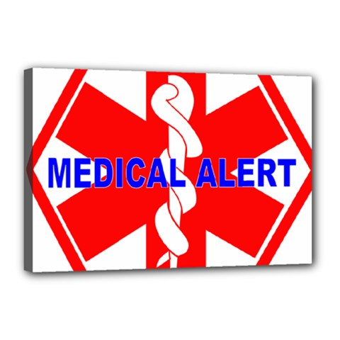Medical Alert Health Identification Sign Canvas 18  X 12  (framed) by youshidesign