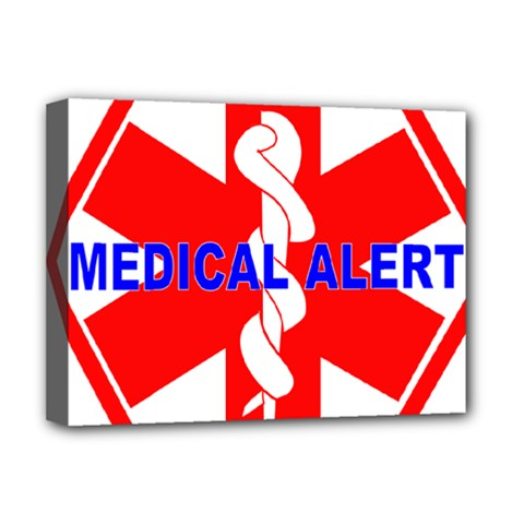 Medical Alert Health Identification Sign Deluxe Canvas 16  X 12  (framed)  by youshidesign