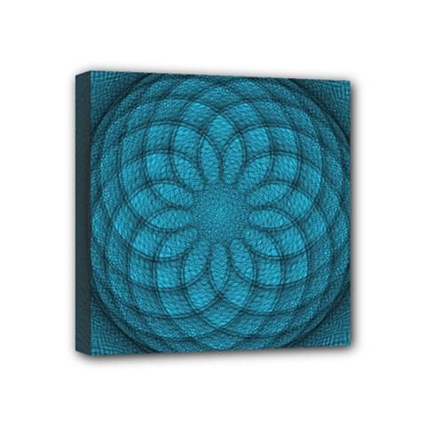 Spirograph Mini Canvas 4  X 4  (framed) by Siebenhuehner
