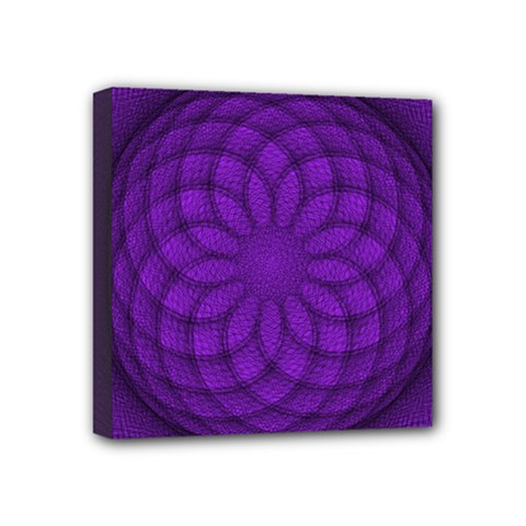 Spirograph Mini Canvas 4  X 4  (framed) by Siebenhuehner