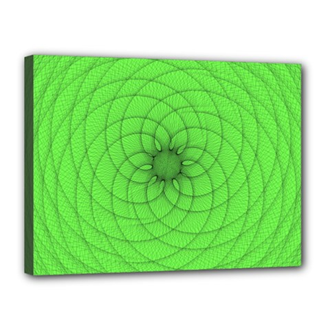 Spirograph Canvas 16  X 12  (framed) by Siebenhuehner