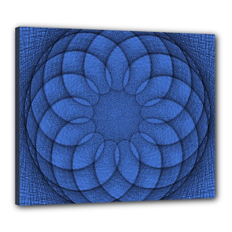 Spirograph Canvas 24  X 20  (framed) by Siebenhuehner