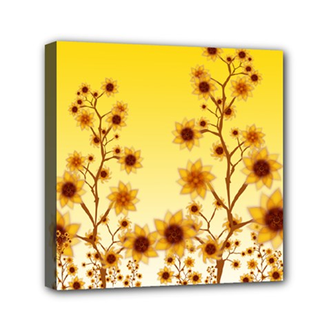 Sunflower Cheers Mini Canvas 6  X 6  (framed)