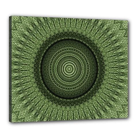 Mandala Canvas 24  X 20  (framed) by Siebenhuehner