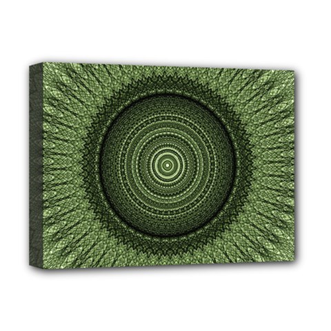 Mandala Deluxe Canvas 16  X 12  (framed)  by Siebenhuehner