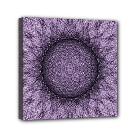 Mandala Mini Canvas 6  X 6  (framed) by Siebenhuehner