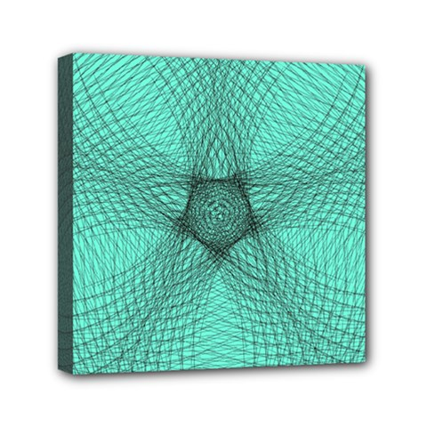 Spirograph Mini Canvas 6  X 6  (framed)