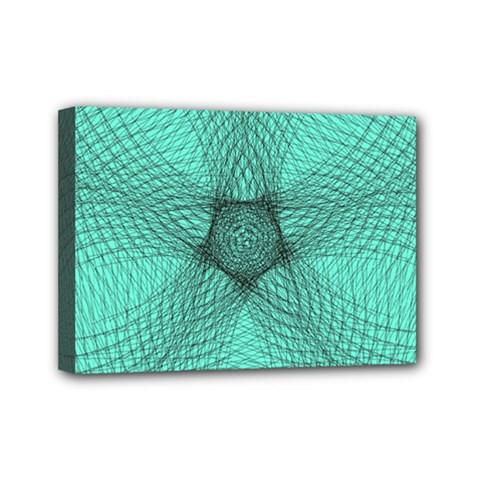 Spirograph Mini Canvas 7  X 5  (framed) by Siebenhuehner