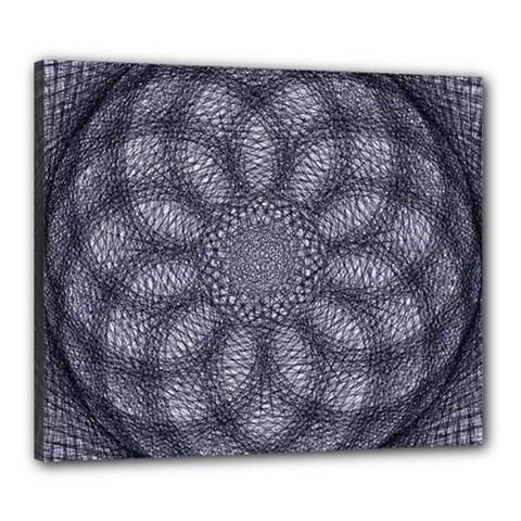 Spirograph Canvas 24  X 20  (framed) by Siebenhuehner