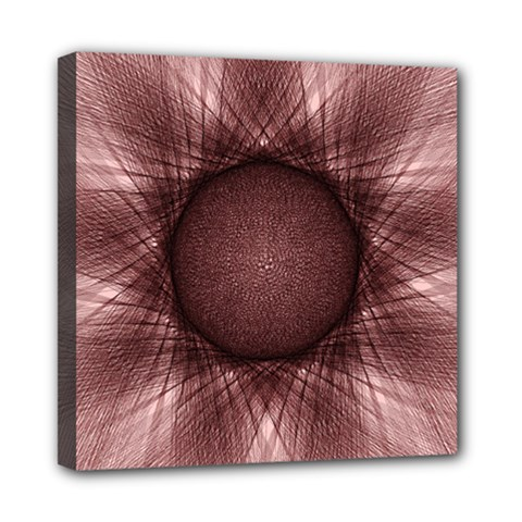 Spirograph Mini Canvas 8  X 8  (framed) by Siebenhuehner