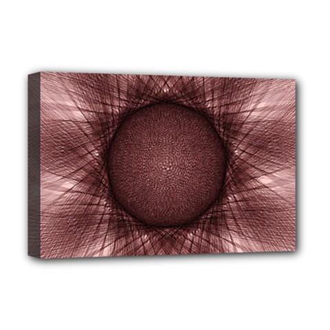 Spirograph Deluxe Canvas 18  X 12  (framed) by Siebenhuehner
