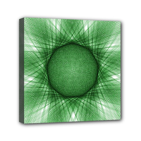 Spirograph Mini Canvas 6  X 6  (framed) by Siebenhuehner