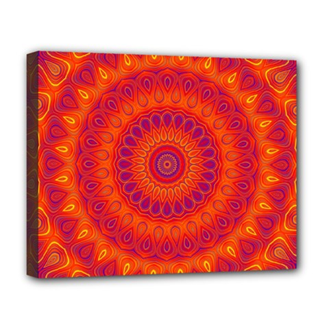 Mandala Deluxe Canvas 20  X 16  (framed) by Siebenhuehner
