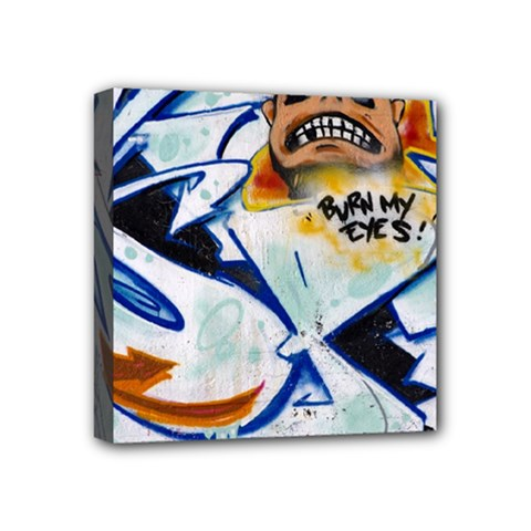 Graffity Mini Canvas 4  X 4  (framed) by Siebenhuehner