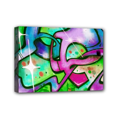 Graffity Mini Canvas 7  X 5  (framed) by Siebenhuehner