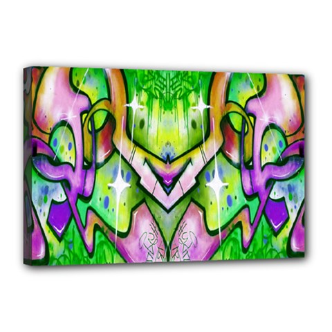 Graffity Canvas 18  x 12  (Framed)