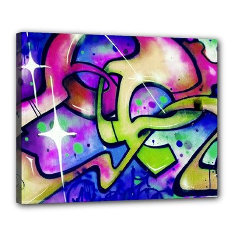 Graffity Canvas 20  X 16  (framed) by Siebenhuehner
