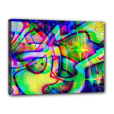 Graffity Canvas 16  X 12  (framed) by Siebenhuehner