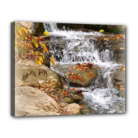 Waterfall Canvas 14  X 11  (framed) by uniquedesignsbycassie